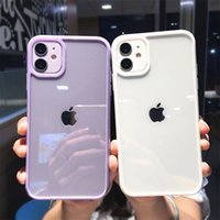 Candy Color Soft Bumper Phone Case For iPhone 11 12 13 Pro Max XR XS Max X 7 8 Plus 13 Pro 12 Shockproof Transparent Back Cover