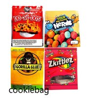 Edibles Packaging mylar bags 3.5g Gorilla Glue Zkittlez releasable packing bag 600mg Mike and IKE Zours 500mg ND chewy candy Empty 59