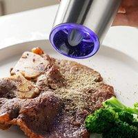 Moedor elétrico pimenta automática e moedor de sal de sal, bateria alimentada, rugosidade ajustável, luz LED luz my-inf0351 24 v2