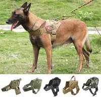 Dog Collars & Leashes Military Harness German Shepherd Pet Vest Leash For Big Dogs Waterproof Straps With Handle Hunting