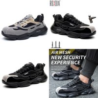 Boot Roxdia Brand Light Weight Steel Nose Safety Shoes Women Work Outdoor Breathing Male Plus Size 36 46 RXM648 0802