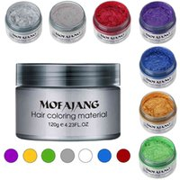 Color Hair Wax Styling Pomade Silver Grandma Grey Disposable Natural Strong Gel Cream Dye for Women Men 120g
