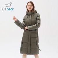 Icebear - женский капюшон ET, бренд пальто, зимняя длинная ткань, высокое качество, мода, GWD20310i, 2021