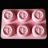 Craft Tools 6 Cavity 3D Silicone Honey Bee Soap Mold Mould Tray Handmade DIY Non-toxic Bar Making Crafts Form