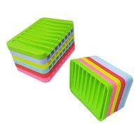 Anti-Skidding Mejoramiento Platos de jabón de silicona Accesorios de baño flexibles Bandeja de hardware Bandeja SOAPBOX JOAPS SOBRE PLATA DE PLACA