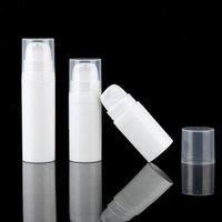 5ML 10 ml de bouteilles de pompe de la lotion sans air blanc de 5 ml Mini échantillon et récipient de bouteille de test Conteneur Emballages cosmétiques RH0578