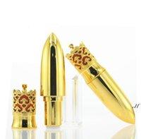 100pcs 12.1mm Gold Crown DIY Lipstick Tube bouteille à lèvres à la main Tubes à baume à lèvres à la main Outils de maquillage Vide Conteneur cosmétique DWA6250
