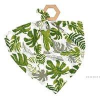 Serviettes de salive pour nourrissons Toilether bois Toddler Toddler Bandana Dribble Bibs Pinafore Solid Nouveau-né Triangle Triangle Fwe4985