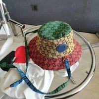 Мужские Женщины Дизайнеры Ведро Шляпы Мода Многоцветная Полная буква Бейсболка Крышка Casquette Бона Beanie Fedora Поддоны Caps Sun Hat 2021