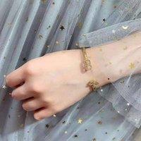 70% OFF Dijia Color CD CD Trevo Trevo inlay diamante jóias de jóias de moda temperamento simples pulseira
