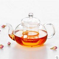 1 шт. Новая практическая стойкая стойкая бутылка чашка стекла чайник с инфузором чайный лист травяной кофе 400 мл 249 S2