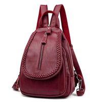 HBP أزياء المرأة البسيطة حقيبة الكتف حقائب بو الجلود حقيبة كمبيوتر محمول الأمتعة
