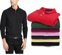 Classic Men's Designer Polo Shirt Hoodie Luxury Embroidered Polo Shirt Pony Men's Long Sleeve T-shirt 17 Colors High Quality