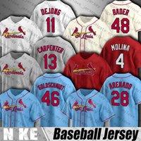 28 Nolan Arenado 46 Paul Goldschmidt Jersey St Cardinal Louis бейсбол Harrison Bader Yadier Molina Jerseys Jack Flaherty Paul Dejong Hiks Рубашки