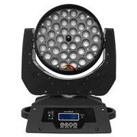 고품질 무대 조명 DMX RGBW LED 워시 이동 헤드 라이트 36x10w 4in1 확대 / 축소