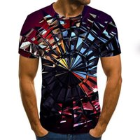 Summer Three-Dimensional Vortex Men Women 3D printing Oversized T-Shirt Fashion O-Neck Short Sleeve Trend Comfortable T-Shirt TXU-1468