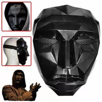 50pcs TV Squid Game Masked Man Masks Round Squire Triangle Party Mask Accessories Delicate Halloween Masquerade Costume Props X1005A