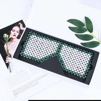 Hand Made Eye Curtain Crystal Sleeping Face Mask Natural Healing Stone Blindfold Aventurine &White Jade Facial Masks Cool Beauty Health Care Tool