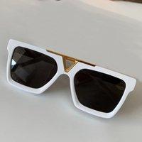 Ouro branco / quadrado preto óculos de sol 1288 Sonnenbrille ochiali da sola unisex moda óculos de sol máscaras com caixa