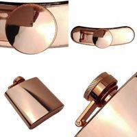 6 أوقية جودة عالية 100٪ روز الذهب لوحة الفولاذ المقاوم للصدأ الفولاذ قارورة 155 S2
