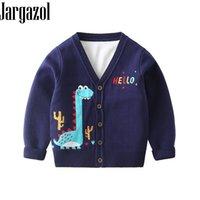 Яргазол дети мальчик кардиган свитер мультфильм динозавров вышивка осень детские девушки топы зима маленькие дети свитера милый костюм 210202