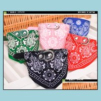 Apparel Home & Gardenwholesale Puppy Triangle Bandana Lovely Dog Scarf Adjustable Top Quality Cat Tie Collar Christmas Pet Supplies Drop Del