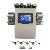 6in1 40k Ultrasonic liposuction Cavitation 8 Pads LLLT lipo Laser Slimming Machine Vacuum RF Body Salon Spa Equipment