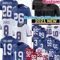 "8 Daniel Jones Saquon Barkley Jersey New Kenny Golladay Bradberry 요크 ""Eli Manning Sterling Shepard Football Phil Simms Giant""로렌스 테일러 Kadarius Toney"