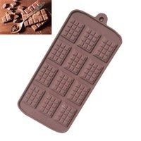 Baking Moulds Silicone 12 Even Chocolate Mold Fondant Molds DIY Candy Bar Mould Cake Decoration Tools Kitchen Accessories INPN