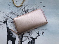 Carteiras de designer de marca para mulheres bolsas sacos de embreagem PU Zipper com suporte de cartão