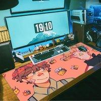 Fare Pedleri Bilek Dinlendirir Animasyon Dream SMP DIY Tasarım Desen oyunu Mousepad Büyük Bilgisayar Oyun Kilitleme Kenarı Ile Kaymaz Doğal Kauçuk