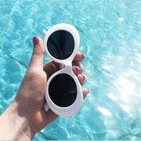 2021 Goggle Kurt Cobain Glass Oval Sunglass Ladi Glass Trendy Hot Vintage Retro Sun Glass Women's UV400 Gafas De Sol