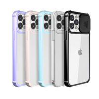 카메라 케이스 렌즈 보호 투명한 클리어 하이브리드 PC TPU 전화 커버 아이폰 12 11 프로 최대 XR XS 8 7 6 Plus