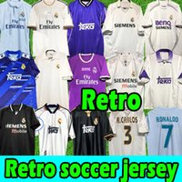 Finals Real Madrid Retro Soccer Jersis Guti Ramos Seedorf Carlos 13 14 15 Ronaldo Zidane Beckham Redondo Jersey 94 95 96 97 98 99 00 01 02 03 04 05 06 07 Football Hemden