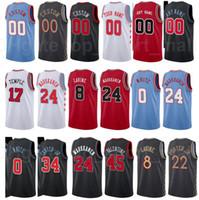 Ekran Baskı Basketbol Brian Scalabrine Formalar Steve Kerr Toni Kukoc Tony Snell John Paxson Thaddeus Genç Kırmızı Siyah Beyaz Mavi Erkekler