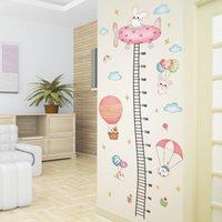Pegatinas de pared [Shijuehezi] Globos Animales DIY Aircraft Altura Medida Calcomanías para niños Habitación Dormitorio para bebé Decoración del hogar