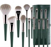 Mode Make-up Pinsel Frauen Veganer Make-up Pinsel Set mit Tasche und Eimer Kosmetik Schönheit Werkzeug Schwangere Weibliche Gründung Erröten Pulver Mischen Gesicht Lidschatten-Brauen