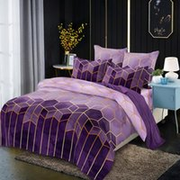 Bedding Sets Geometry Comforter Spinning King-duvet Cover Sheet Set Vintage Styles Machine-washable Skin-friendly Bed Linings