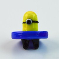 OD 28mm Smoking Accessories Yellow Minions Style Carb Caps Dome For Quartz Banger Nails Glass Water Bongs Glass Bubble