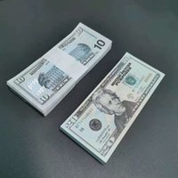 Film Prop Para Sahte Banknot 10 Dolar Oyuncak Para Birimi Partisi Çocuk Hediye 50 Çocuklar için 100dollar Bilet Faturaları