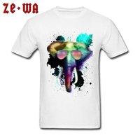 CCCCSPORTAUTMN Tissu 100% coton Homme Tops Tees 2018 Nouveaux T-shirts d'anniversaire de mode Prenez un voyage The Elephant Festival Jour T-shirt