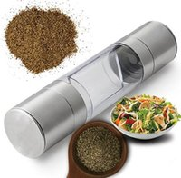 Pepper Grinder 2 in 1 Stainless Steel Manual Salt & Pepper M...
