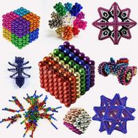 DIY المعادن النيوديميوم ماجيك 5 ملليمتر المغناطيس كرات المغناطيسي كتل مكعب بناء بناء لعب colorfull الفنون الحرف لعبة أكثر من 14y