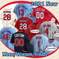 28 Nolan Arenado Mens Jersey Benutzerdefinierte Paul Goldschmidt Jerseys Yadier Molina Ozzie Smith Dexter Fowler Carpenter Baseball Jersey