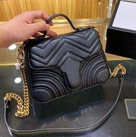 2020 أزياء الفاخرة ماركة مصمم الكلاسيكية محفظة حقيبة يد السيدات جودة عالية مخلب جلد ناعم طوي حقيبة الكتف 583571 547260