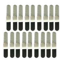 Wrist Support 20Pcs Disposable Absorbent Sweatband Hat Against Sweat Stains Liner Pads Cushion Black