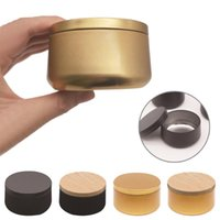 Storage Bottles & Jars Multi Function Jar Tinplate Screw-on Lid DIY Candle Making Household Small Project Container Travel Portable