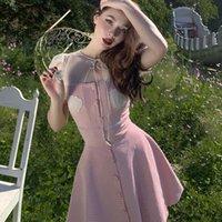 Le Palais Vintage 2021 Origonal Rosa Gürtel Kurze obere High Minirock Piece Damen Kleidung Set Stücke Kexh