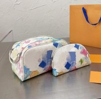 2-teile Hohe Qualität Mode Frauen Wash Tasche Große Kapazität Kosmetische Taschen Make-up Toilette Geldbörsen Tasche Männer Reisen WC Handtaschen