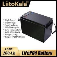12V 200AH LIFPO4 Bateria Batterias de Lítio Baterias de Lítio 3000 Ciclos para 12.8V RV Campistas Carrinho de golfe Off-Road Off-Grid Wind solar